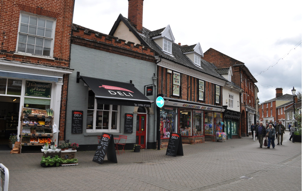 Halesworth is a short drive from Green Valley, and has a pedestrianised high street