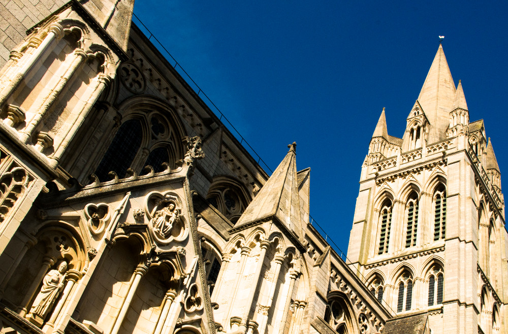 Truro Cathedral, just one place to visit during your holiday at Trenona Farm Holidays